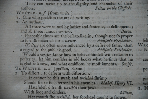 Dr johnson 39 s dictionary page 2 for Terrace in a sentence